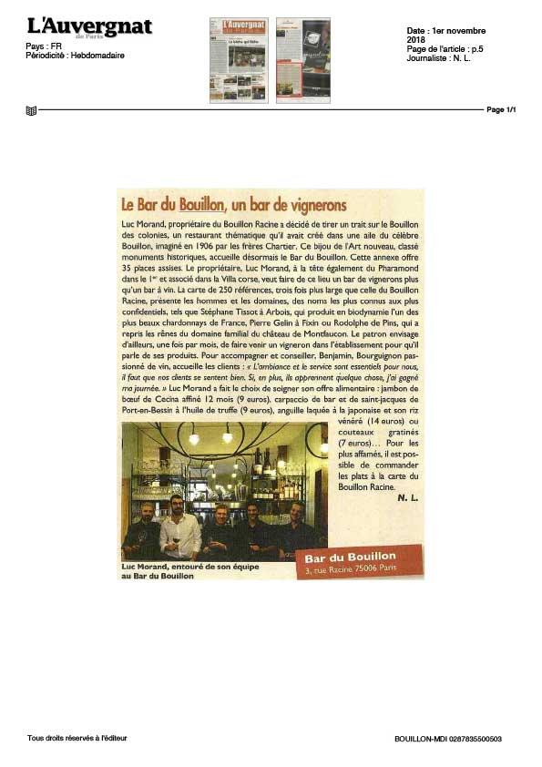 L'Auvergnat, article