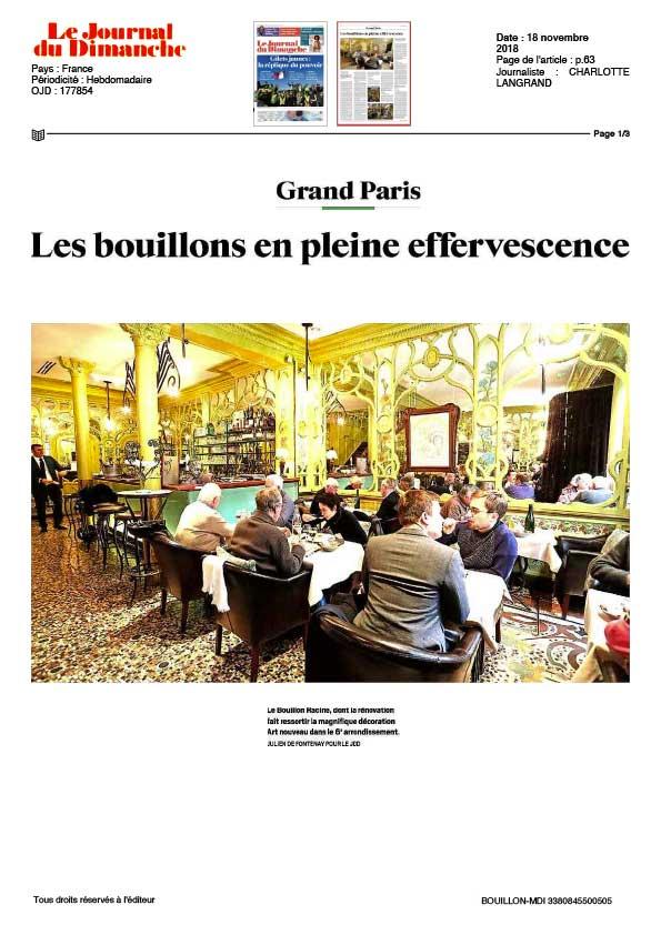 Le Journal du Dimanche, article