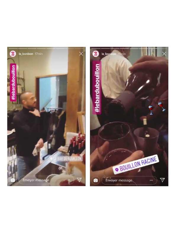 Instagram story, Le Bonbon, octobre 2018