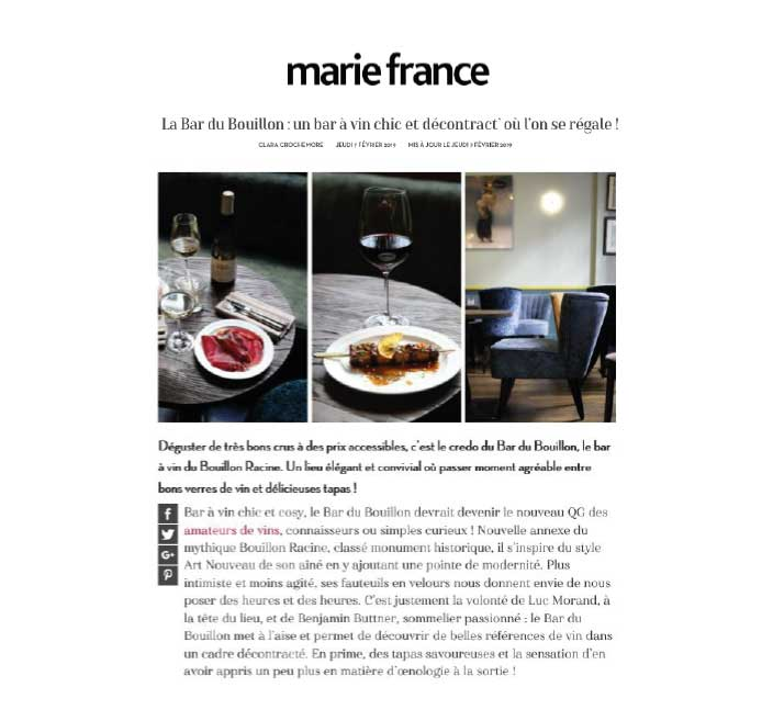 Marie France, février 2019