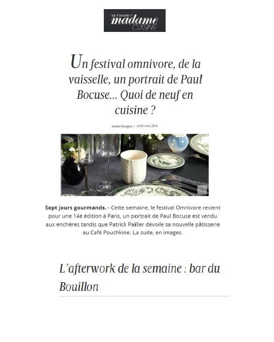 Madame Figaro, mars 2019