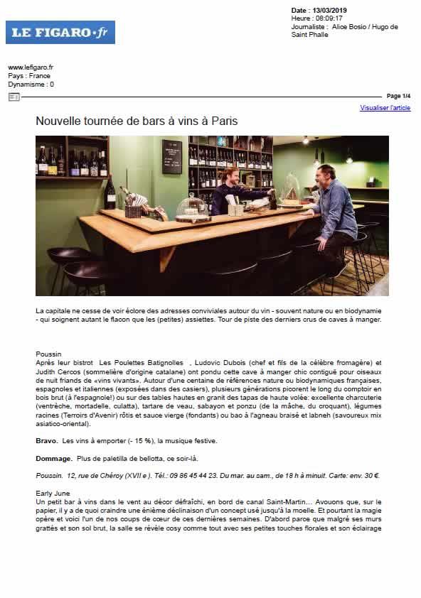 Le Figaro, mars 2019
