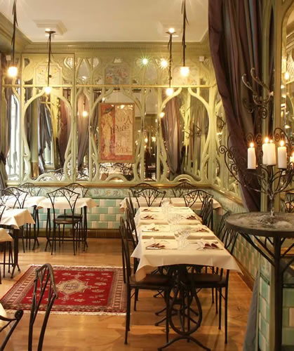 Restaurant Bouillon Racine, petit salon privatif, réservation Grandes Tables
